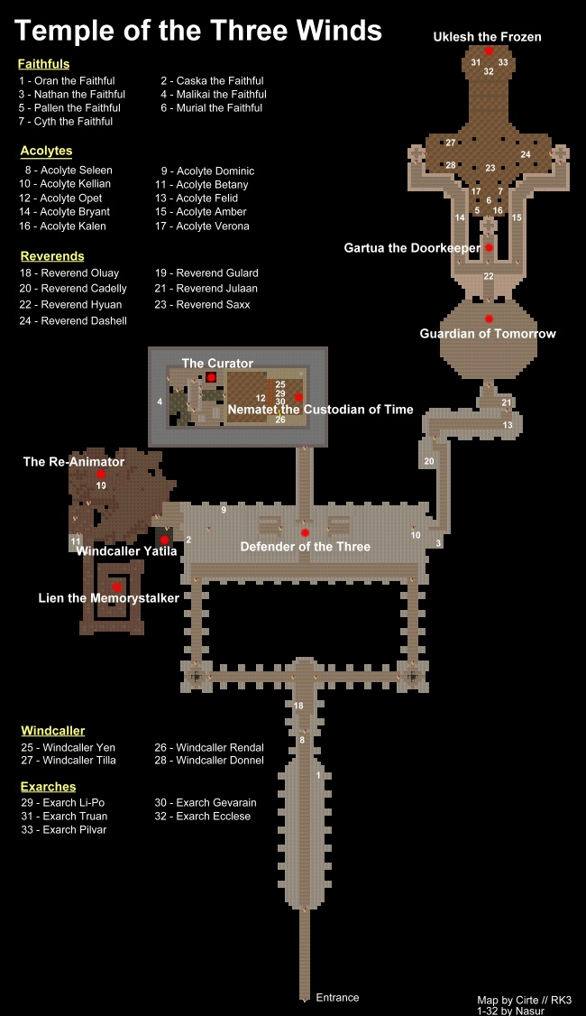 Map of the Temple of the Three Winds
